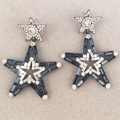 Pair of Graceful Rhinestone Pentagram Hollow Out Earrings For WomenEarrings<br>Pair of Graceful Rhinestone Pentagram Hollow Out Earrings For Women<br><br>Earring Type: Drop Earrings<br>Gender: For Women<br>Style: Trendy<br>Shape/Pattern: Star<br>Length: 6.9CM<br>Weight: 0.05KG<br>Package Contents: 1 x Earring (Pair)