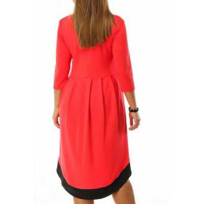 Chic Round Neck 3/4 Sleeve Asymmetrical Womens DressWomens Dresses<br>Chic Round Neck 3/4 Sleeve Asymmetrical Womens Dress<br><br>Style: Casual<br>Material: Polyester<br>Silhouette: Asymmetrical<br>Dresses Length: Mid-Calf<br>Neckline: Round Collar<br>Sleeve Length: 3/4 Length Sleeves<br>Pattern Type: Patchwork<br>With Belt: No<br>Season: Spring,Fall<br>Weight: 0.50KG<br>Package Contents: 1 x Dress