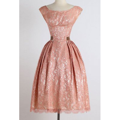 Vintage Style Scoop Neck Sleeveless Lace Pink Womens Ball Gown DressWomens Dresses<br>Vintage Style Scoop Neck Sleeveless Lace Pink Womens Ball Gown Dress<br><br>Style: Vintage<br>Material: Polyester<br>Silhouette: Ball Gown<br>Dresses Length: Mid-Calf<br>Neckline: Scoop Neck<br>Sleeve Length: Sleeveless<br>Pattern Type: Solid<br>With Belt: No<br>Season: Spring,Summer<br>Weight: 0.383KG<br>Package Contents: 1 x Dress