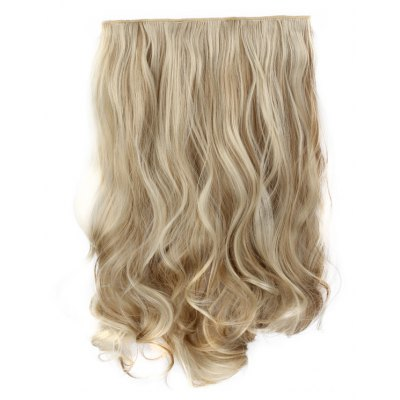 Assorted Color Fashion Long Synthetic Charming Shaggy Wavy Clip-In Hair Extension For Women
