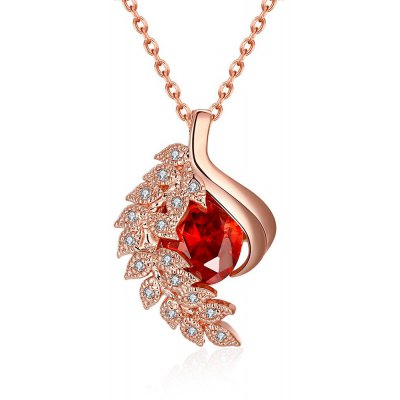 Zircon Necklace Fashion Jewelry Rose Gold Plating Necklace