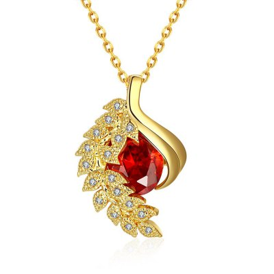Zircon Necklace Fashion Jewelry 24K Gold Plating Necklace