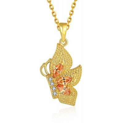 N131 - A Zircon Necklace Fashion Jewelry 24K Gold Plating Necklace