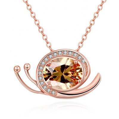 N134 - B Zircon Necklace Fashion Jewelry Rose Gold Plating Necklace