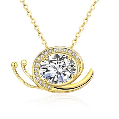 N134 - A Zircon Necklace Fashion Jewelry 24K Gold Plating Necklace