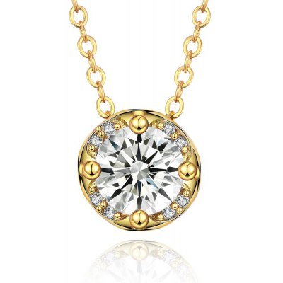 N135 - A Zircon Necklace Fashion Jewelry 24K Gold Plating Necklace