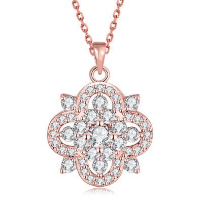 N106 - B Antiallergic Rose Gold Plated Necklace Pendants New Fashion Jewelry