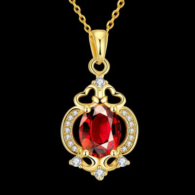 N113 - A Zircon Necklace Fashion Jewelry 24K Gold Plating Necklace