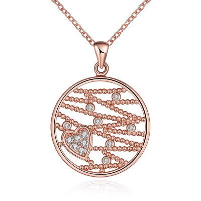 N114 - B Zircon Necklace Fashion Jewelry Rose Gold Plating Necklace