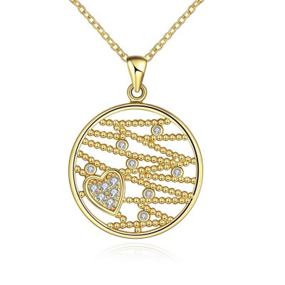 N114 - A Zircon Necklace Fashion Jewelry 24K Gold Plating Necklace