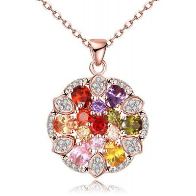 N116 - B Zircon Necklace Fashion Jewelry Rose Gold Plating Necklace
