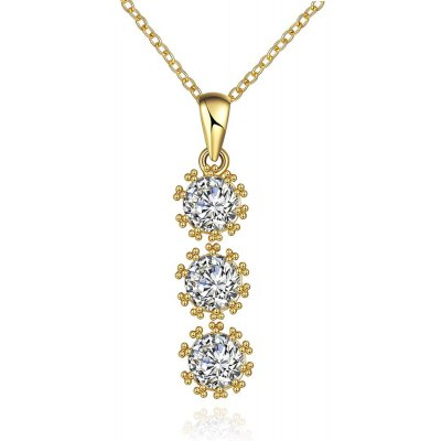 N119 - A Zircon Necklace Fashion Jewelry 24K Gold Plating Necklace