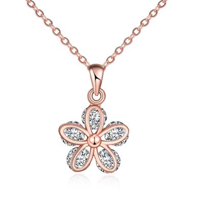 N120 - B Zircon Necklace Fashion Jewelry Rose Gold Plating Necklace