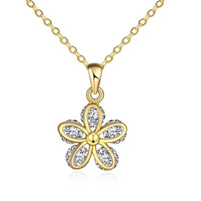 N120 - A Zircon Necklace Fashion Jewelry 24K Gold Plating Necklace
