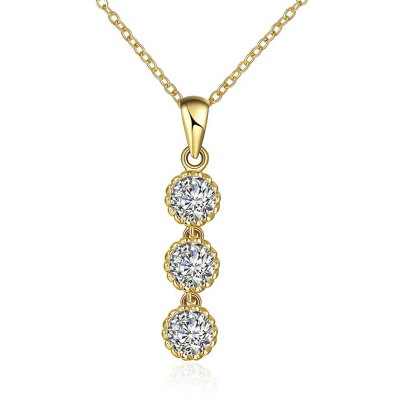 N121 - A Zircon Necklace Fashion Jewelry 24K Gold Plating Necklace
