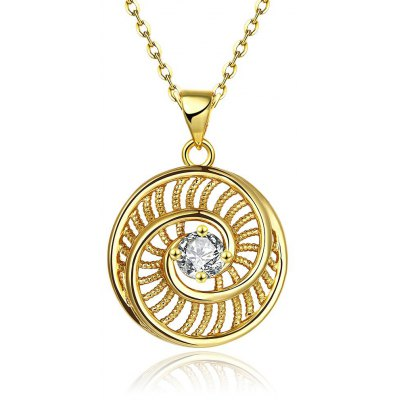 N125-A Zircon Necklace Fashion Jewelry 24K Gold Plating Necklace