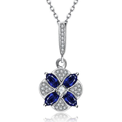 N126-A Zircon Necklace Fashion Jewelry Silver Plating Necklace