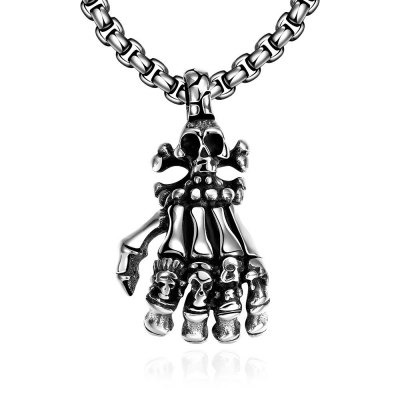 N049 Stainless Steel Vintage Pendant Necklace