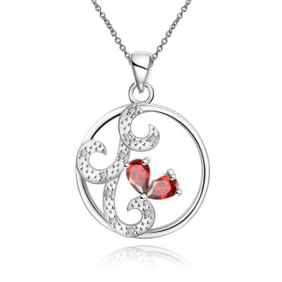 N110-B 925 Silver Plated Necklace Brand New Design Pendant Necklaces Jewelry for Women