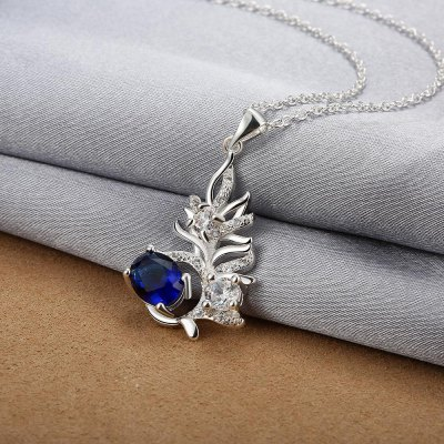 N113-A 925 Silver Plated Necklace Brand New Design Pendant Necklaces Jewelry for WomenNecklaces &amp; Pendants<br>N113-A 925 Silver Plated Necklace Brand New Design Pendant Necklaces Jewelry for Women<br>