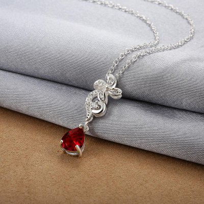 N114-B 925 Silver Plated Necklace Brand New Design Pendant Necklaces Jewelry for WomenNecklaces &amp; Pendants<br>N114-B 925 Silver Plated Necklace Brand New Design Pendant Necklaces Jewelry for Women<br>