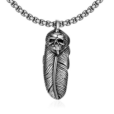 N042 316L Stainless Steel Vintage Pendant Necklace