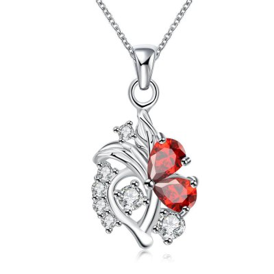 N115-B 925 Silver Plated Necklace Brand New Design Pendant Necklaces Jewelry for Women