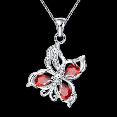 N116-B 925 Silver Plated Necklace Brand New Design Pendant Necklaces Jewelry for WomenNecklaces &amp; Pendants<br>N116-B 925 Silver Plated Necklace Brand New Design Pendant Necklaces Jewelry for Women<br>
