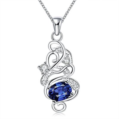 N117-A 925 Silver Plated Necklace Brand New Design Pendant Necklaces Jewelry for Women