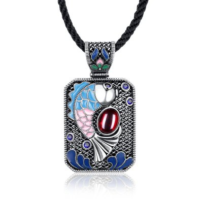 N010-B Ladies Carp Pattern National Style Necklace