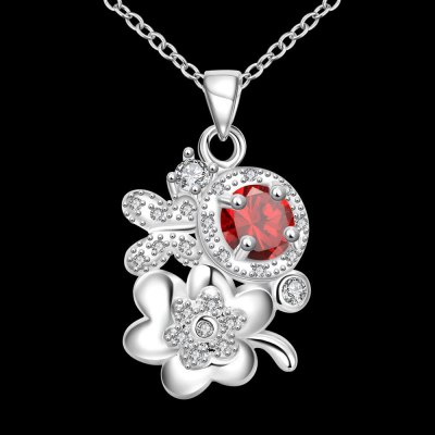 N125 - B 925 Silver Plated Necklace Pendant Necklace for Women