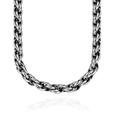 N064 Titanium Fashion Chain 316L Stainless Steel Vintage Pendant Necklace