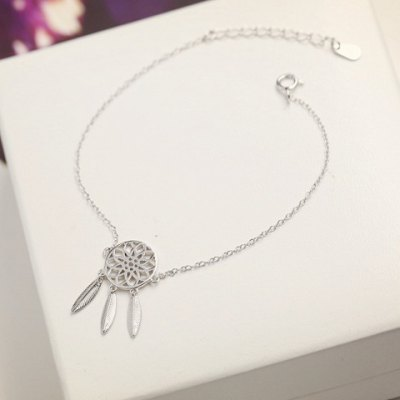 Round Feather Hollow Out Bracelet
