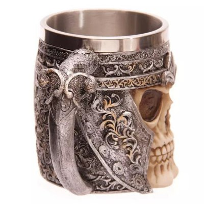 Cool Skull Design Stainless Steel 400ml Coffee Tea Cup