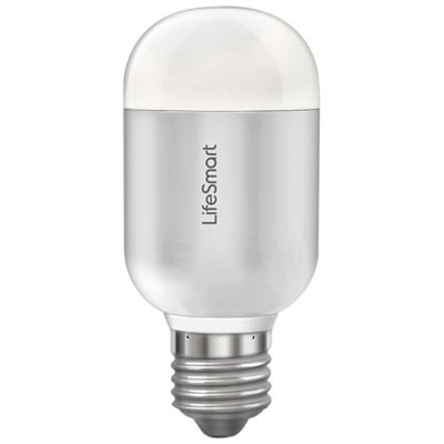 LifeSmart Smart LED Capsule Magic BulbSmart Lighting<br>LifeSmart Smart LED Capsule Magic Bulb<br><br>Brand: LifeSmart<br>Holder: E27<br>Type: Smart Light<br>Output Power: 6W<br>Luminous Flux: 600Lm<br>CCT/Wavelength: 5500-6000K<br>Voltage (V): AC 220<br>Features: Low Power Consumption,Remote-Controlled,Energy Saving,Long Life Expectancy,Dimming<br>Function: Home Lighting,Commercial Lighting,Studio and Exhibition Lighting<br>Available Light Color: White,RGB<br>Sheathing Material: Aluminum Alloy<br>Product weight: 0.110 kg<br>Package weight: 0.18 kg<br>Product size (L x W x H): 11 x 5 x 5 cm / 4.32 x 1.97 x 1.97 inches<br>Package size (L x W x H): 13 x 6 x 7 cm / 5.11 x 2.36 x 2.75 inches<br>Package Contents: 1 x LifeSmart Smart Lamp