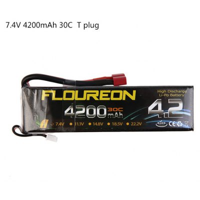 FLOUREON T Plug 7.4V 4200mAh 30C Battery