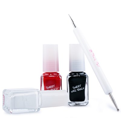 3 Colors Set Nail Art DIY Nail Polish Kit with Nail Art pen