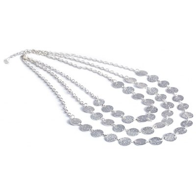 Simple Multi Metal Clothing Accessories Necklace Sweater Chain