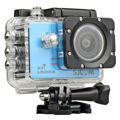 Original SJCAM SJ5000X 4K Sport Action Camera ( Elite Edition )Action Cameras<br>Original SJCAM SJ5000X 4K Sport Action Camera ( Elite Edition )<br><br>Brand: SJCAM<br>Model: SJ5000X<br>Type: HD Car DVR Recorder,Sports Camera<br>Chipset Name: Novatek<br>Chipset: Novatek 96660<br>System requirements: Mac OS x 10.3.6 above,Win 7,Windows 2000 / XP / Vista<br>Max External Card Supported: Micro SD 128G (not included)<br>Class Rating Requirements: Class 10 or Above<br>Screen size: 2.0inch<br>Screen type: LCD<br>Battery Type: Removable<br>Capacity: 900mAh<br>Power Supply: 5V / 1A<br>Charge way: USB charge by PC<br>Working Time: About 80 minutes with WiFi off (at 1080P 60fps and 2K 30fps)<br>Wide Angle: 170 degree wide angle<br>Camera Pixel : 12.0 megapixel<br>ISO: Auto,ISO100,ISO1600,ISO200,ISO400,ISO800<br>Decode Format: H.264<br>Video format: MP4<br>Video Resolution: 1080P (1920 x 1080),2K(2560 x 1440)30fps,4K (2880 x 2160),720P (1280 x 720)<br>Video System: NTSC,PAL<br>Video Output : AV-Out,HDMI<br>Image Format : JPG<br>Exposure Compensation: +1,+1/3,+2,+4/3,+5/3,-1,-1/3,-2,-2/3,-4/3,-5/3,0,2/3<br>White Balance Mode: Auto,Cloudy,Daylight,Fluorescent,Tungsten<br>WIFI: Yes<br>WiFi Function: Settings<br>WiFi Distance : 10m<br>Waterproof: Yes<br>Waterproof Rating : IP68 with waterproof case, 30m underwater<br>Loop-cycle Recording : Yes<br>Loop-cycle Recording Time: 10min,3min,5min,OFF<br>Motion Detection: Yes<br>HDMI Output: Yes<br>WDR: Yes<br>USB Function: PC-Camera<br>Delay Shutdown : Yes<br>Time Stamp: Yes<br>Interface Type: Micro HDMI,Micro USB,TF Card Slot<br>Language: Cesky,Danish,Deutsch,Dutch,English,French,Hungarian,Italian,Japanese,Polski,Portuguese,Russian,Simplified Chinese,Spanish,Traditional Chinese,Turkish<br>Frequency: 50Hz,60Hz<br>Product weight: 0.068 kg<br>Package weight: 0.750 kg<br>Product size (L x W x H): 6.10 x 2.50 x 4.30 cm / 2.4 x 0.98 x 1.69 inches<br>Package size (L x W x H): 27.00 x 15.00 x 8.00 cm / 10.63 x 5.91 x 3.15 inches<br>Package Contents: 1 x Original SJCAM SJ5000X 4K Action Camera, 1 x Waterproof Case + Base Mount + Long Screw, 1 x 900mAh Li-ion Battery, 1 x Quick Release J-Shaped Buckle, 1 x Housing Backdoor with Holes, 1 x Bike Hand
