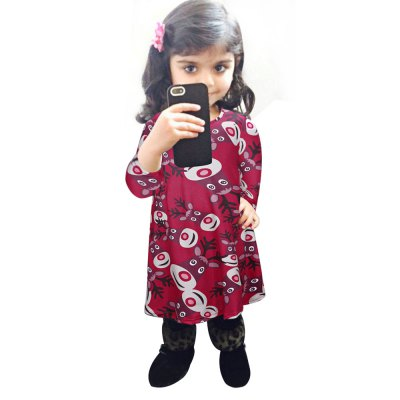 Chic Jewel Collar Long Sleeve Printed A-Line Girls Christmas Swing DressGirls Clothing<br>Chic Jewel Collar Long Sleeve Printed A-Line Girls Christmas Swing Dress<br><br>Style: Cute<br>Material: Polyester,Spandex<br>Fabric Type: Broadcloth<br>Silhouette: A-Line<br>Dresses Length: Mini<br>Neckline: Jewel Neck<br>Sleeve Length: Long Sleeves<br>Pattern Type: Animal<br>Elasticity: Micro-elastic<br>With Belt: No<br>Season: Fall<br>Weight: 0.10KG<br>Package Contents: 1 x Dress