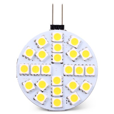 2PCS G4 - 24SMD5050 5W 398LM Car Clearance Lamp