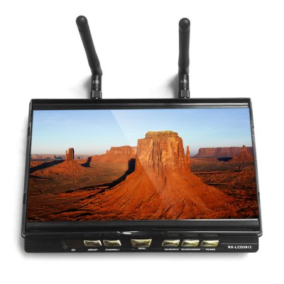 RX - LCD5812 FPV 7 Inch Monitor 40 Channel 1024 x 600 Built-in 5.8GHz Receiver LCD Display