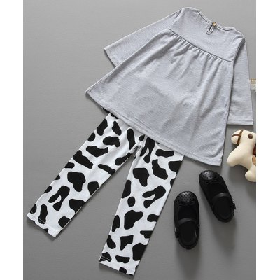 Stylish Long Sleeve Cartoon Cow Print T-Shirt + Color Block Leggings Twinset For GirlGirls Clothing<br>Stylish Long Sleeve Cartoon Cow Print T-Shirt + Color Block Leggings Twinset For Girl<br><br>Material: Polyester<br>Clothing Length: Long<br>Sleeve Length: Full<br>Style: Fashion<br>Pattern Style: Character<br>Weight: 0.185KG<br>Package Contents: 1 x T-Shirt  1 x Leggings
