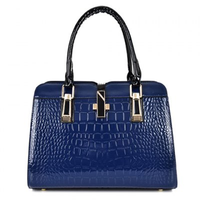 Stylish Pure Color and Crocodile Print Design Womens Tote BagWomens Bags<br>Stylish Pure Color and Crocodile Print Design Womens Tote Bag<br><br>Handbag Type: Totes<br>Style: Fashion<br>Gender: For Women<br>Pattern Type: Solid<br>Handbag Size: Medium(30-50cm)<br>Closure Type: Zipper &amp; Hasp<br>Interior: Interior Zipper Pocket<br>Occasion: Versatile<br>Main Material: Patent Leather<br>Weight: 1.200kg<br>Size(CM)(L*W*H): 32*15*23<br>Strap Length: Short:15M,Long:60-120CM (Adjustable)<br>Package Contents: 1 x Toet Bag,1 x Wallet