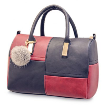 Trendy Metal and Colour Block Design Women's Tote Bag