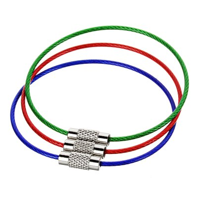 3PCS Practical Steel Wire Keyring Quickdraw