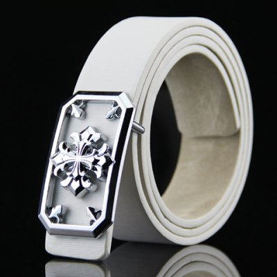 Stylish Hollow Out and Retro Cross Shape Embellished Wide Belt For Men