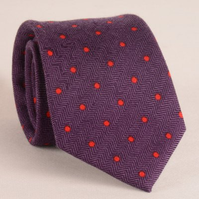 Stylish Red Polka Dot Jacquard 8CM Width Tie For Men