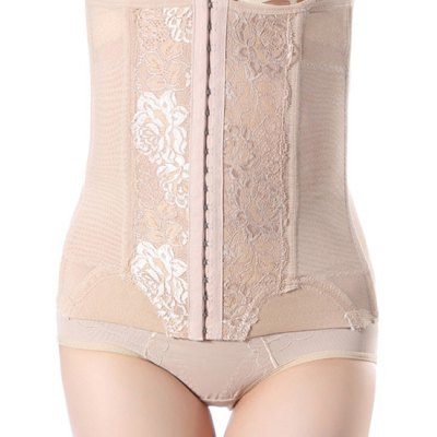 Lace Spliced Steel Boned Corset For Women