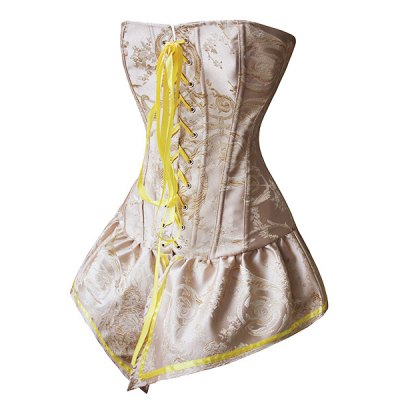 Stylish Strapless Jacquard Asymmetrical Hem Lace-Up Corset For WomenCorsets &amp; Shapewear<br>Stylish Strapless Jacquard Asymmetrical Hem Lace-Up Corset For Women<br><br>Material: Polyester<br>Pattern Type: Floral<br>Embellishment: Pattern,Ribbons<br>Weight: 0.280KG<br>Package Contents: 1 x Corset